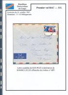 CONGO KINSHASA 1967 ISSUE COB 657 COVER FROM KOLWEZI - Democratische Republiek Congo (1964-71)