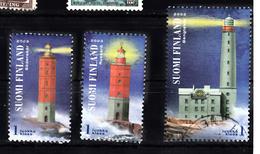 Vuurtoren, Lighthouse: Finland 2003 Mi Nr  1670 + 1671 + 1674 Postfris En Gestempeld - Lighthouses
