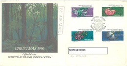 CHRISTMAS - FDC - 3.10.1990  - CHRISTMAS -  Yv 328-331 - Lot 17332 - Christmas Island