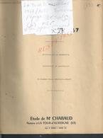LA TOUR D AUVERGNE 1967 ACTE SUCCESSION Vve GAUTHIER CHANET 4 PAGES : - Manoscritti