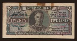 25 Cents, 1946 - Sri Lanka