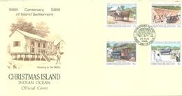 CHRISTMAS - FDC - 24.08.1988  - CENTENARY -  Yv 273-276 - Lot 17333 - Christmas Island