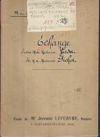 LIGNEROLLES CHAMPIGNY LA FUTELAYE COUDRES 1931 ACTE D ECHANGE DE TERRES VERDET À PICHOT 17 PAGES : - Manoscritti
