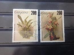 Guyana - Complete Set Orchideeën Overdruk 1988 - Guyana (1966-...)