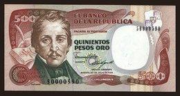 500 Pesos, 1986 - Colombia
