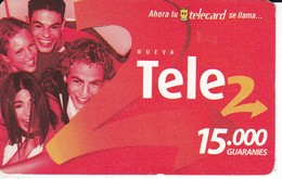 TARJETA DE PARAGUAY DE TELE 2 DE 15000 GUARANIES - Paraguay