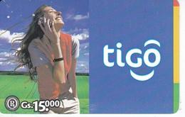 TARJETA DE PARAGUAY DE TIGO DE 15000 GUARANIES - Paraguay