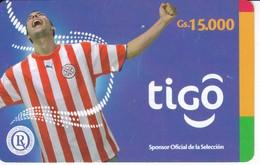 TARJETA DE PARAGUAY DE TIGO DE 15000 GUARANIES DE FUTBOL (FOOTBALL) - Paraguay
