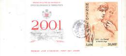 Monaco FDC 2001 David Di Michelangelo    Scott.2215+See Scan On Album 2 - FDC