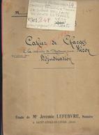 JUMELLES GROSSOEUVRE CHAVIGNY BAILLEUL THOMER LA SOGNE 1933 ACTE VENTE DE TERRES HEROY 24 PAGES : - Manoscritti