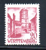 Wurttemberg /  N 34 / 20 Pf Lilas / NEUF ** - Wurtemberg