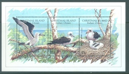 CHRISTMAS - MNH/*** LUXE - 1990 - BIRDS SULA ABBOTTI  FOU -  Yv BLOC 5 - Lot 17339 - Christmas Island