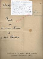 LA TOUR D AUVERGNE 1919 ACTE VENTE D UN PRE PERRIER À FAURE 4 PAGES : - Manoscritti