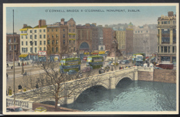 Ireland Postcard - O'Connell Bridge & O'Connell Monument, Dublin    DC1901 - Dublin