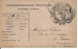 Franse Vlaggenkaart Verstuurd Via Legerposterij Zonder Nr. Naar PANNE (1917) - Oorlog 14-18