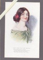 Illustrateur  - Marjorie Mostyn - Tuck's Oilette N° 2986 - Femme  When Irish Eyes Are Smiling - Autres Illustrateurs