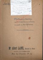 PARIS 1933 ACTE QUITTANCE & MAINLEVEE PAR CREDIT FONCIER AU PROFIT Md ROUSSEAU DE SAINT MAURICE AUX RICHE 16 PAGES : - Manoscritti