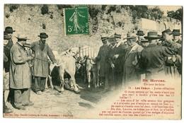 CPA 58 Nièvre En Morvan Un Jour De Foire Les Veaux Animé Animaux - France