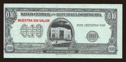 10 Centavos, 1961, MUESTRA - Dominicana