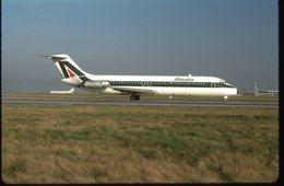 SLIDE / AVION / AIRCRAFT   KODAK  ORIGINAL   ALITALIA  DC 9   I-DIBD - Diapositives (slides)
