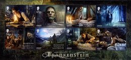 Jersey - 2018 - Frankenstein - 200 Years Since Creation - Mint Stamp Sheetlet - Jersey