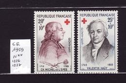 1959 Lot CR 1226-1227 N** AF26 - France