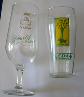Lot De 2 Verres à Bière 25 Cl -  SEDAN Bière De L'Est  Et  SEDAN Prince's Bier - Sanglier Des Ardennes - Glasses