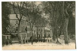 CPA 09 Ariège Lavelanet Promenade De L'Ile Animé - Lavelanet