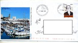 Lettre  Cachet Royan Bureau Philatelique Sur Boulanger Illustré Port - Bolli Manuali