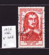 1956 N 1068 Obli  AF44 - France