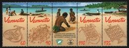 Vanuatu 2001 - Mi-Nr. 1145-1148 ** - MNH - Streifen - Sandzeichnen - Vanuatu (1980-...)