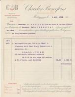 Algérie - Mostaganem - Charles Bonefons - Commissionaire En Vins - Alcool - 1915 - Factures & Documents Commerciaux