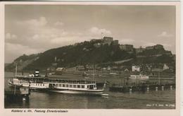 Koblenz V. 1938  Festung,Fluß,Schiff,Brücke  (636) - Koblenz