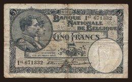 5 Francs, 1925 - Unclassified