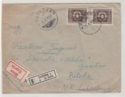 Yugoslavia, Letter Cover Registered Expres Travelled 1949 Zagreb To Bitola & Ljubljana-Beograd Railway Pmk B180702 - Covers & Documents