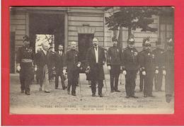 LYON MAI 1914 VOYAGE PRESIDENTIEL M. POINCARE A L ECOLE DE SANTE MILITAIRE CARTE EN TRES BON ETAT - Lyon