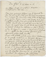 Montreux Jeunes Et Lagrange Conscrit An 11- 5.1.1803 Lettre En Franchise - Postmark Collection (Covers)