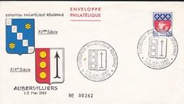93---AUBERVILLIERS--1-2- Mai 1965--exposition Philatélique Régionale--voir 2 Scans - Covers