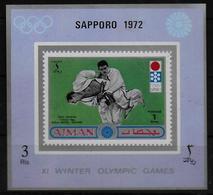 AJMAN  Epreuve De Luxe    * *  NON DENTELE   Jo 1972 Judo - Judo