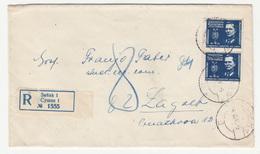 Yugoslavia, Letter Cover Registered Travelled 1946 Sušak To Zagreb B180702 - Storia Postale