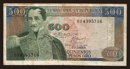 500 Pesos, 1977 - Colombia