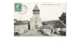 Cpa - 87 - SAINT PAUL D'EYJEAUX - L'Eglise - PUBLICITÉ Chocolat Menier Et Amidon Verley - 1909 - Frankreich