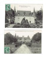 Lot 2 Cpa - 87 - SAINT PAUL D'EYJEAUX - CHÂTEAU D' AIGUEPERSE - CHÂTEAU DE La POMELIE - 1909 - Tour - France