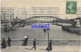 Paris - Le Métro , La Passerelle D'Austerlitz - 1913 - Ponti