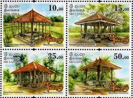Sri Lanka - 2018 - Ambalam Of Sri Lanka - Buddhist Pilgrims Rests - Mint Stamp Set - Sri Lanka (Ceylon) (1948-...)