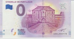 Billet Touristique 0 Euro Souvenir France 56 Citadelle De Port Louis 2018-2 N°UEKL000178 - EURO