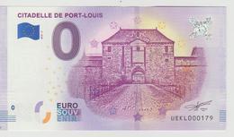 Billet Touristique 0 Euro Souvenir France 56 Citadelle De Port Louis 2018-2 N°UEKL000179 - EURO