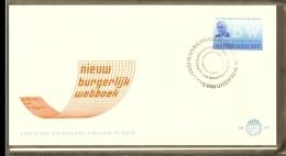 1970 - Netherlands FDC E102 Blanco - New Civil Code [D12_028] - FDC