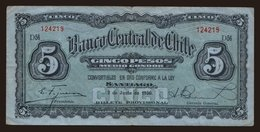 5 Pesos, 1930 - Chile