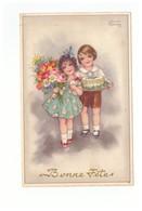 Illustrateur Illustration Hannes Petersen Couple D' Enfants Correspondance 1937 - Petersen, Hannes